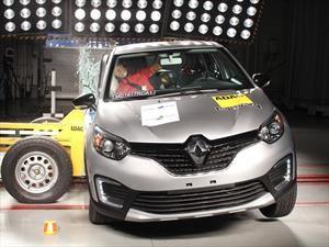 Renault Captur tiene cuatro estrellas en las pruebas de choque de Latin NCAP