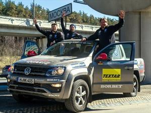 Dakar-Moscú en tiempo récord a bordo de una Volkswagen Amarok V6