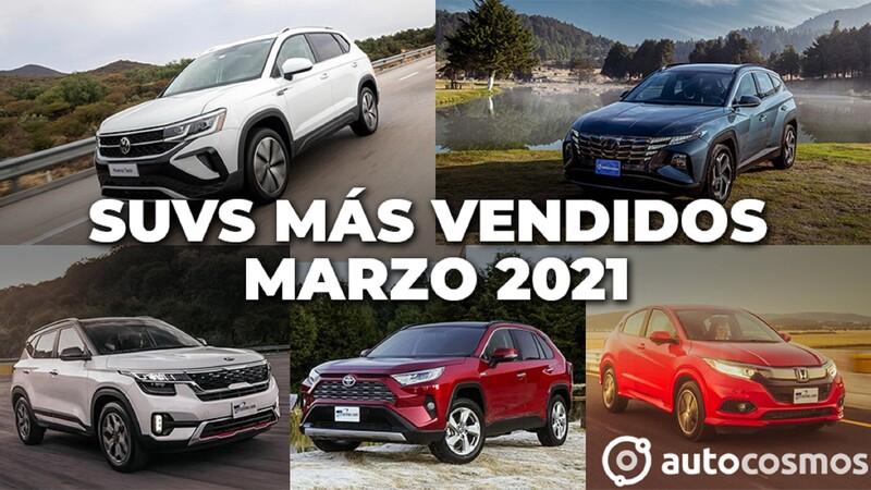 Los 10 SUVs más vendidos en marzo 2021