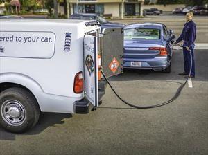 Volvo ofrece servicio de lavado y suministro de gasolina a sus clientes