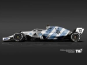Así se verían los autos F1 de las selecciones mundialistas
