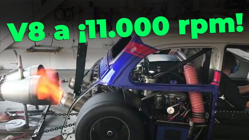 Un FIAT 500 hace gritar su V8 a 11.000 rpm