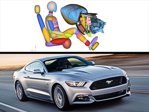 Ford Mustang 2015 con bolsa de aire de rodilla en la guantera