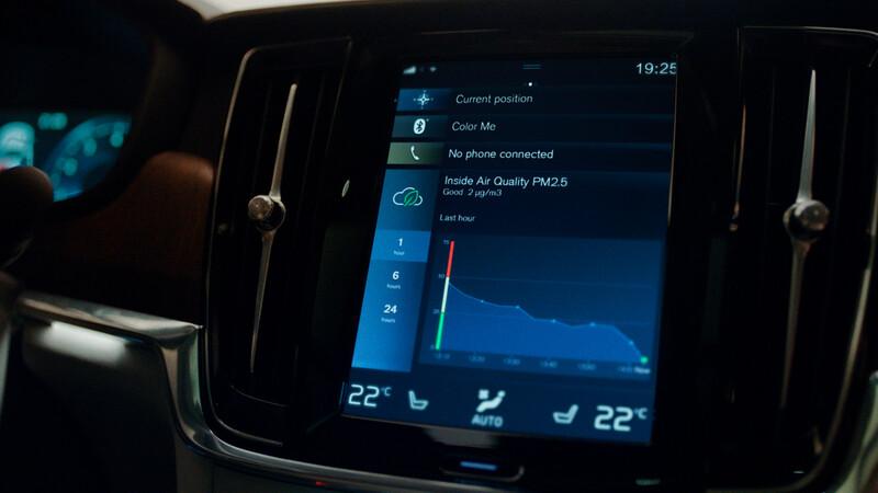 Volvo S60 y S90 tendrán sistemas de purificación de aire para los ocupantes