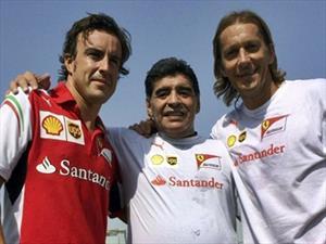 Fernando Alonso y Diego Maradona compartieron un entrenamiento en Dubai