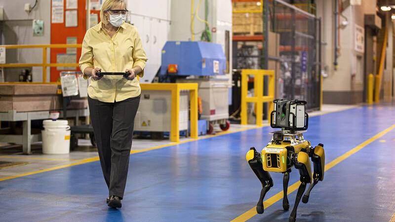 Perros-robot colaboran en las plantas de Ford