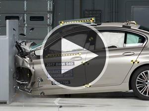 Video: Gran resultado para el BMW Serie 5 en las pruebas del IIHS