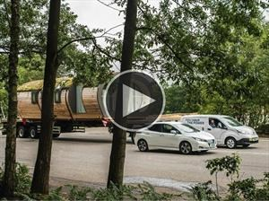 Video: Nissan e-NV200, el vehículo eléctrico con más remolque