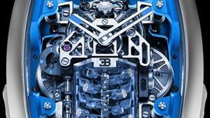 Este reloj que imita el motor del Bugatti Chiron vale casi $7 millones de pesos