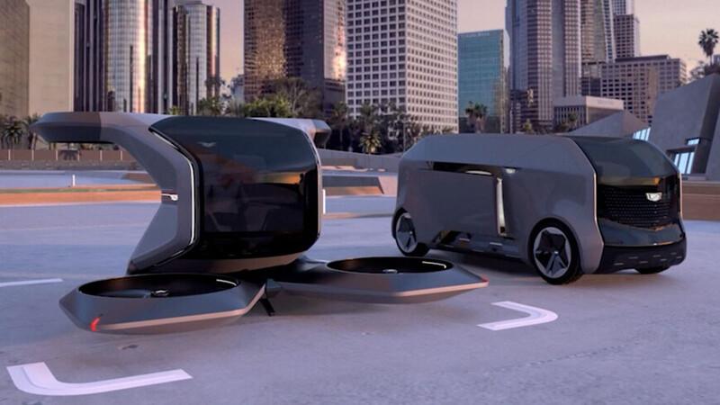 Cadillac nos muestra un auto que vuela y un limusina autónoma