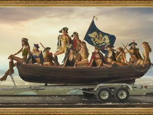 Ram y Sports Ilustrated Swimsuit recrean el cruce de Washington por Delaware
