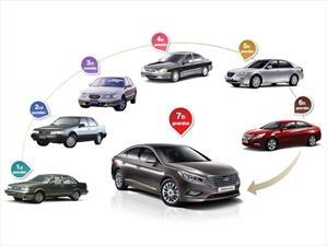 Estas son las 7 generaciones del Hyundai Sonata