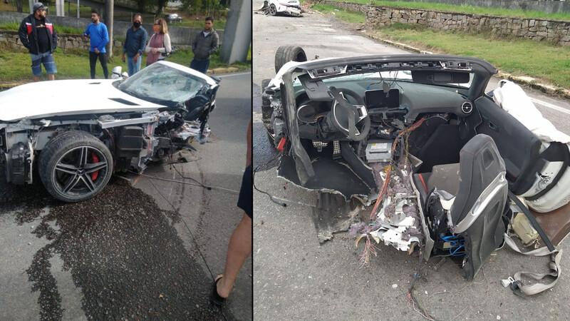 Este Mercedes-AMG GT-C protagonizó un aparatoso accidente en Brasil