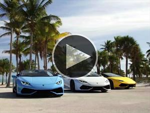 Video: Lamborghini Huracán LP 610-4 Spyder en las calles de Miami