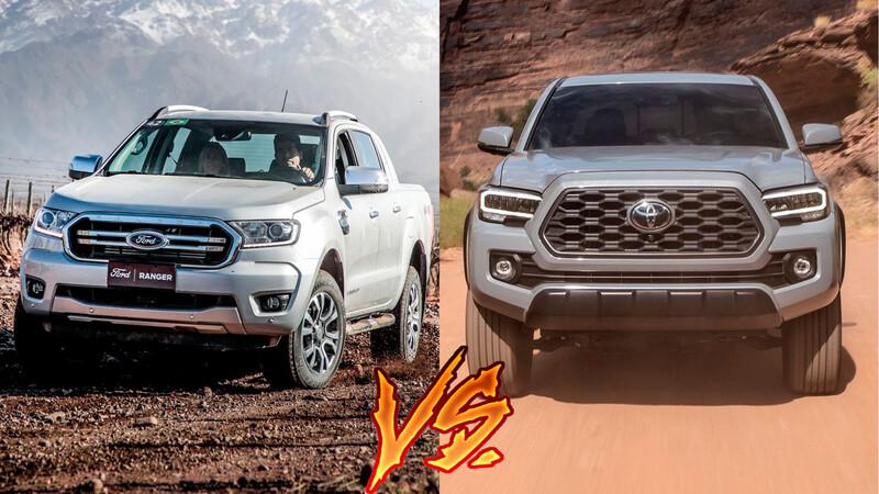 Toyota Tacoma vs Ford Ranger ¿diésel o gasolina? cuál es la mejor pickup mediana de lujo