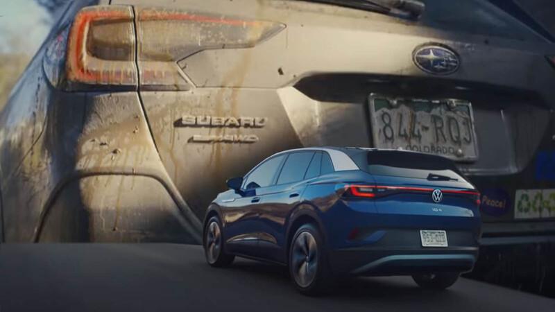 ¿Volkswagen contra Subaru? Ocurre en la publicidad del ID.4 eléctrico