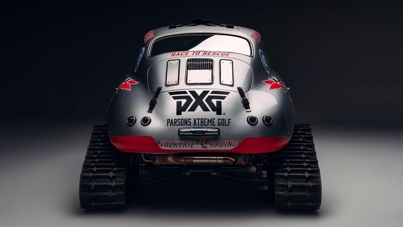 Porsche 356 transformado en una bestia para la nieve y el hielo