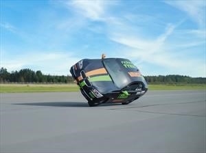 Récord Guinness del automóvil más rápido en dos ruedas