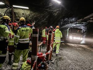 Volvo prueba camiones autónomos en una mina subterránea