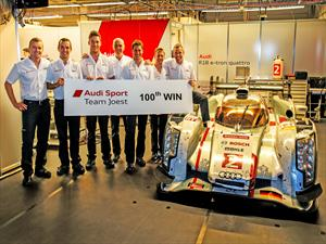 Audi celebra 100 victorias en prototipos de Le Mans