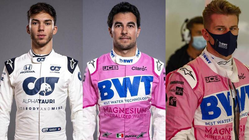 Sergio Pérez, Pierre Gasly y Nico Hülkenberg son los protagonistas de los fichajes de la F1 2021