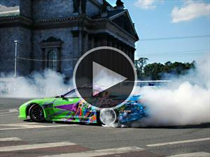 Video: Toyota Supra driftea en San Petersburgo