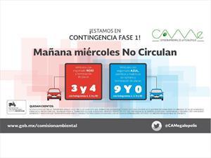Continúa el doble Hoy no Circula en CDMX y Edo Mex
