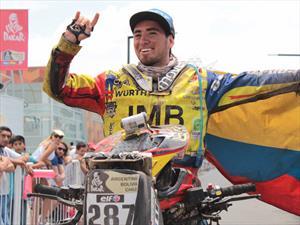Christian Cajicá hace historia en el Dakar 2015