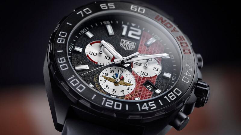 Las 500 Millas de Indianápolis en un reloj de TAG Heuer