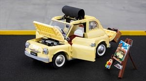 """Lego inmortaliza al pequeño Fiat 500 con una escena de """"La Dolce Vita"""""""