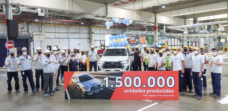 Toyota alcanzó el millón y medio de unidades producidas en Argentina