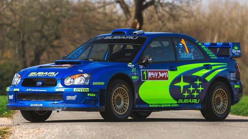 Se subasta el Subaru Impreza WRC con el que Peter Solberg ganó en Japón 2004