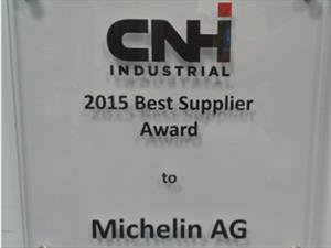 """Michelin obtiene Premio al """"Mejor Proveedor"""" por CNH Industrial"""