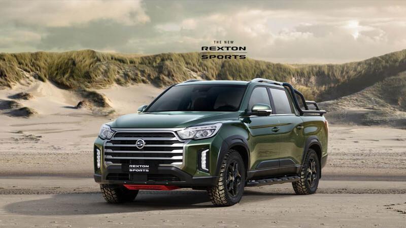 SsangYong ya comienza a mostrar el facelift de su camioneta Musso