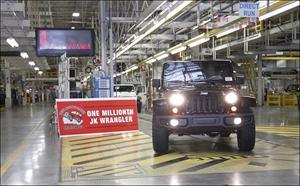 Jeep Wrangler JK llega al millón de unidades