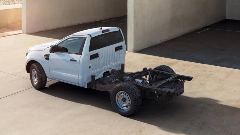 La Ford Ranger aparece en versión chasis cabina