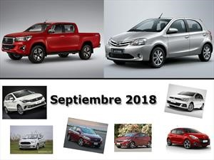 Los 10 autos más vendidos en Argentina en septiembre de 2018