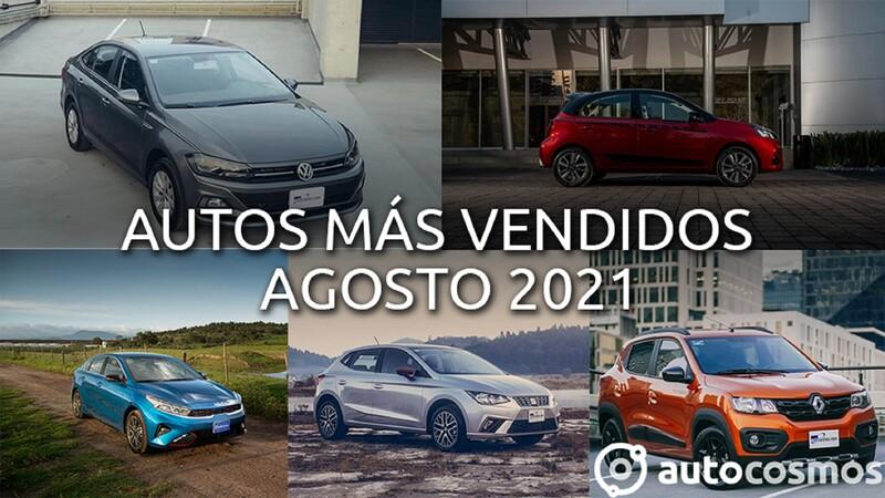 Los 10 autos más vendidos en agosto 2021