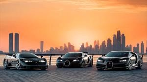 Bugatti juntó a tres de sus hiperdeportivos