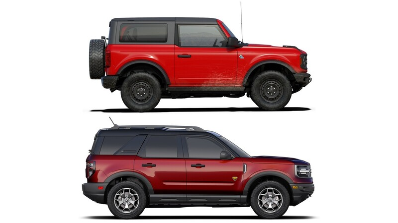 Qué diferencias y similitudes hay entre el Ford Bronco y el Bronco Sport