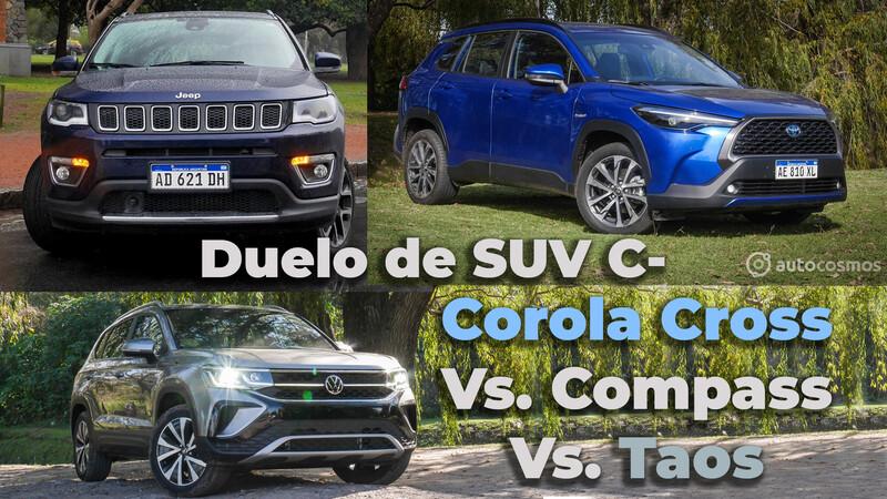 VW Taos Vs. Toyota Corolla Cross Vs. Jeep Compass en los Test de Autocosmos