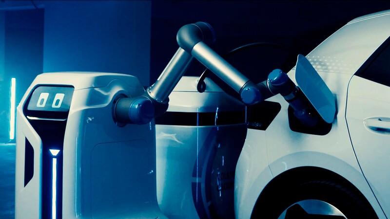 Volkswagen trabaja en un robot cargador de vehículos eléctricos