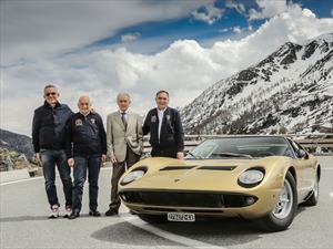 Lamborghini celebra el 50 aniversario del Miura al estilo The Italian Job