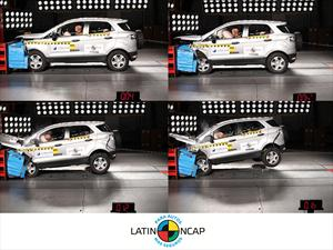 Ford EcoSport sale airosa en el crash test de Latin NCAP