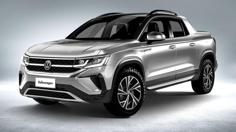 Así se vería la Volkswagen Tarok con el frente del nuevo Taos