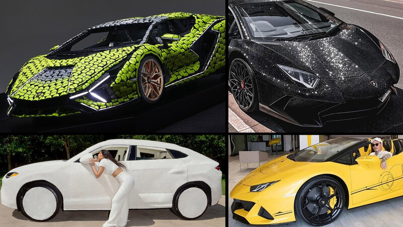 Oro, diamantes y peluche: los Lamborghini especiales más locos del mundo