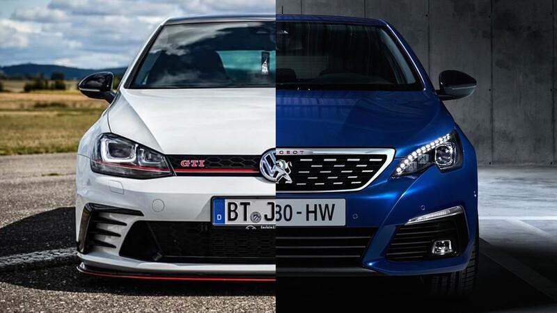 Peugeot 308 GT vs Volkswagen GTI; los dos hot hatches, pero no iguales