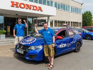 Honda Civic Tourer a diésel establece Récord Guinness de consumo