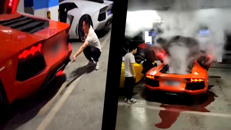 Video: Lamborghini Aventador se rostiza por rostizar