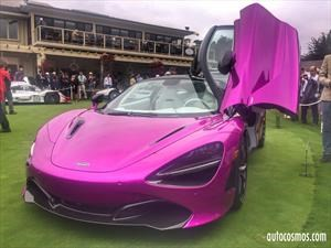 McLaren 720S fucsia en Pebble Beach 2017